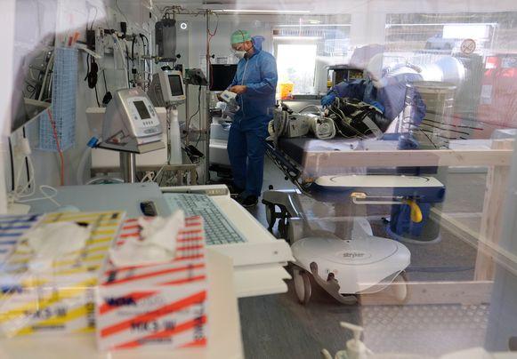 De corona-afdeling van het universitair ziekenhuis in Luik.
