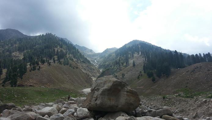 De Naran vallei in Pakistan.