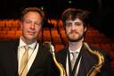 Topsaxofonisten Sjoerd Dijkhuizen en Gideon Tazelaar.
