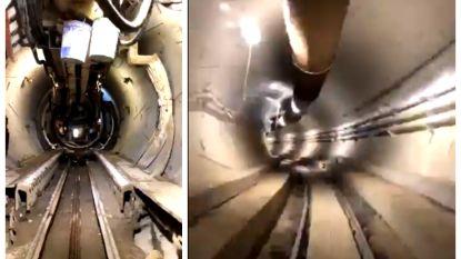 Elon Musk deelt unieke blik in zijn tunnel onder Los Angeles