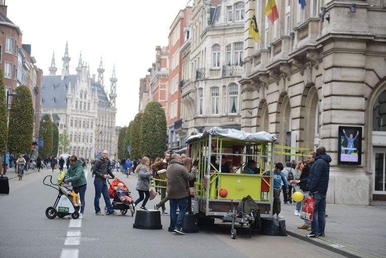 Illustratie kinderactiviteiten in de Leuvense binnenstad