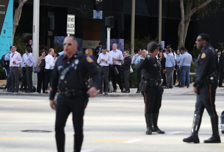 Ook in Miami werden gebouwen geëvacueerd.