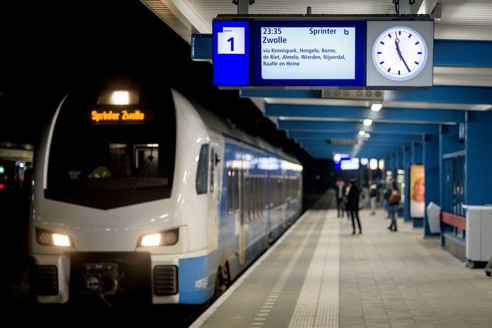 De trein van Enschede naar Zwolle rijdt komend weekend niet tussen Raalte en Zwolle.