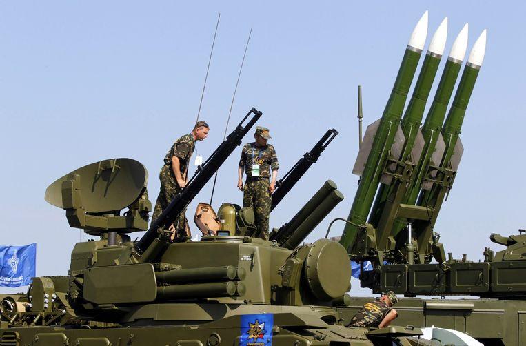 Een Russisch BUK-raketsysteem in 2011. Beeld EPA