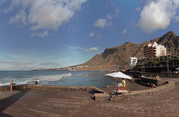 Pisicinas natural Bajamar (Tenerife, Spanje) Beeld Henk Sloos
