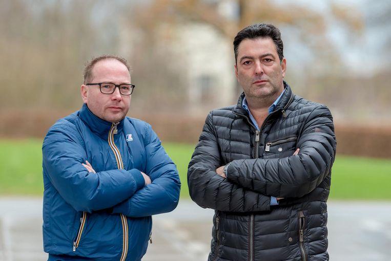 Roderick D'Hoore (Horeca Totaal) en Dirk De Prest (Horeca Foods) zijn faliekant tegen de komst van Sligro op de Philips-site .