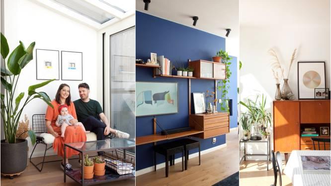 """Dertigers Line en Ben verzoenden hun uiteenlopende smaken in hun huis in Deurne: """"Ik hou van tweedehands, mijn man van design"""""""