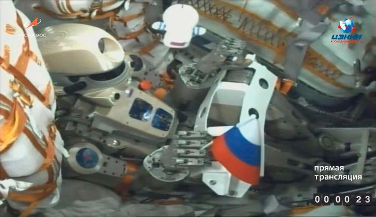 De mensachtige robot Fiodor is 1,80 meter groot en weegt bijna 160 kilogram.