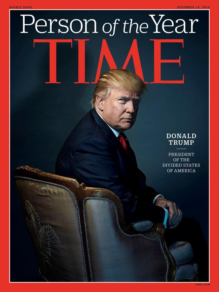 De cover deze week van Time. Trump werd uitgeroepen tot Persoon van het Jaar. Beeld Reuters