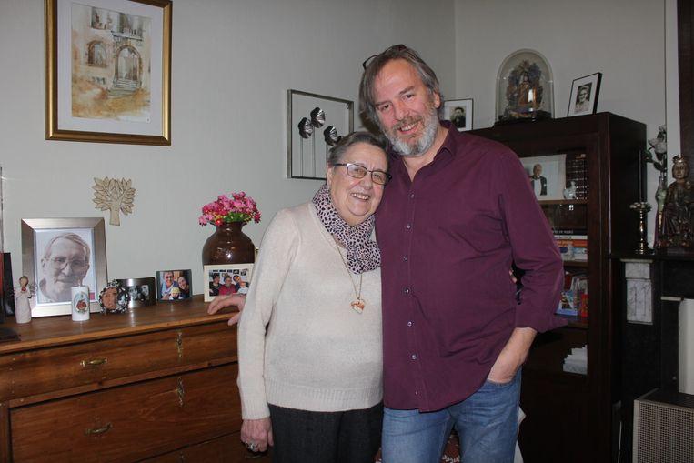 Flor en haar zoon Marc.