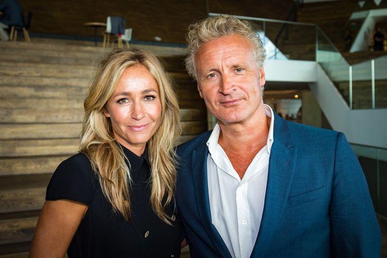 Wendy van Dijk en partner Erland Galjaard. Beeld anp
