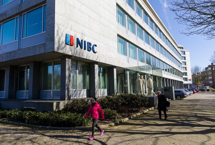 Exterieur van het hoofdkantoor van de Haagse zakenbank NIBC.