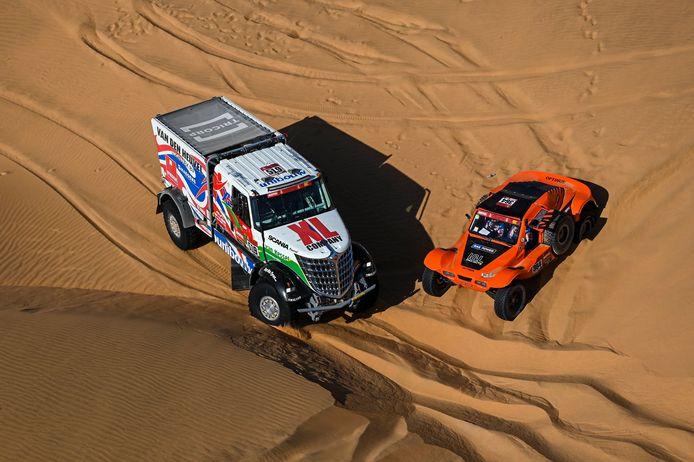 Bijzonder moeilijke toestanden in de Dakar 2021, met veel duinen en navigatie op topniveau.