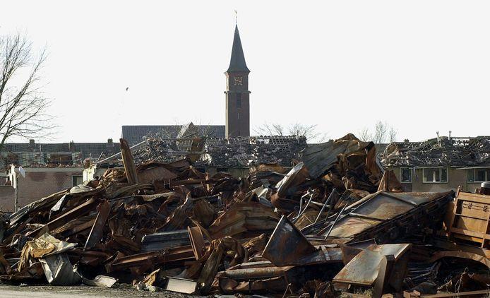 Het rampgebied na 13 mei 2000.