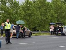 Kettingbotsing tussen Nieuwerbrug en Woerden leidt  uitsluitend tot materiële schade