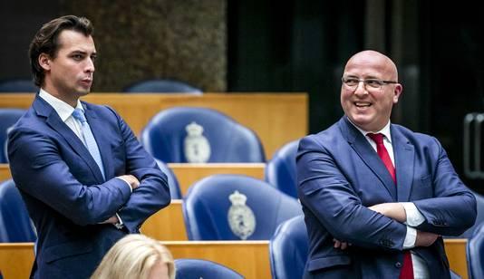 Thierry Baudet (FvD) en Sietse Fritsma (PVV)