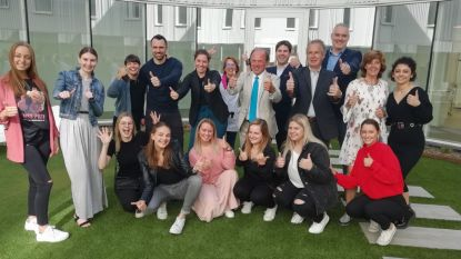 Belgian Beauty Clinic ontvangt minister Muyters en studenten Erasmushogeschool