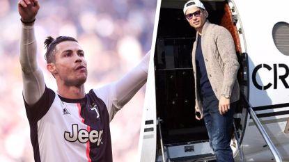 Cristiano Ronaldo arriveert straks met privéjet in Turijn, al loopt terugkeer niet van een leien dakje
