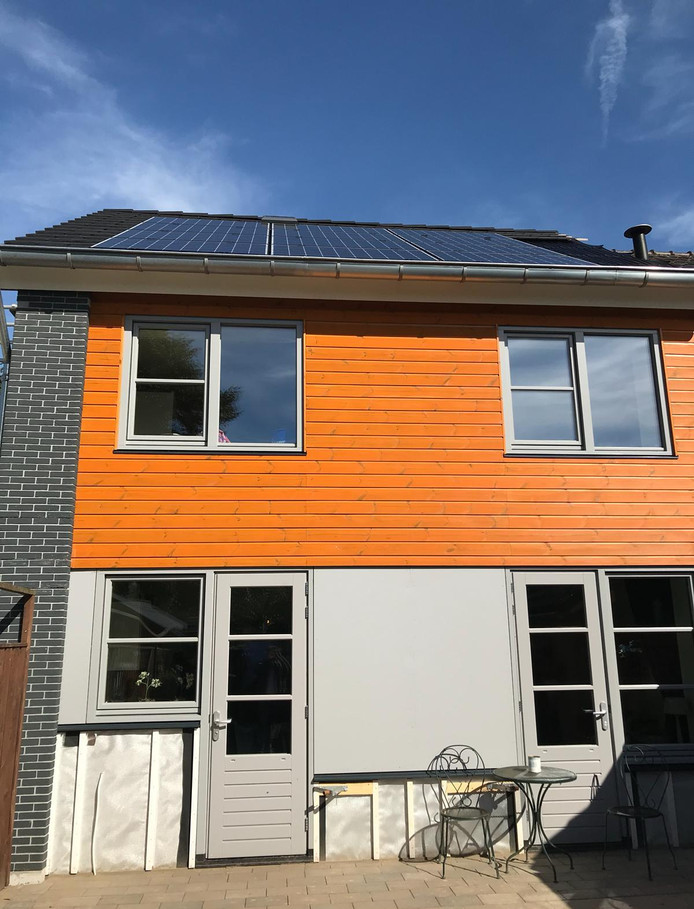 Nul-op-de-meterwoning aan de Kozakkenkamp in Ermelo. Om de klimaatdoelen te halen, zullen veel meer huizen energieneutraal moeten worden.