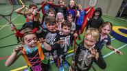 Sporten in Halloweenoutfit