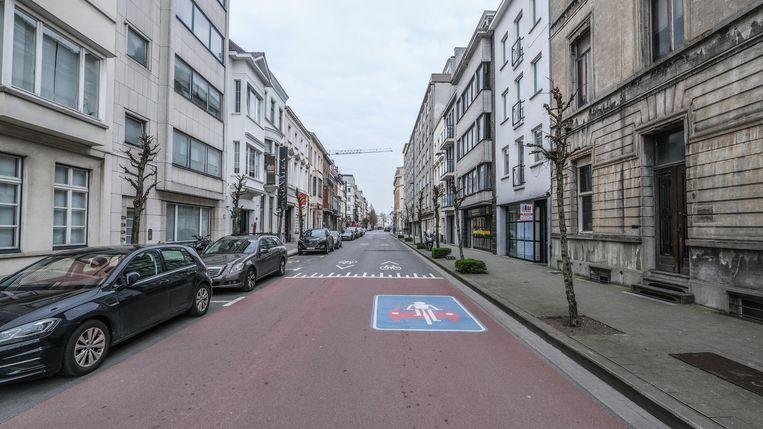 De Jan Palfijnstraat, met helemaal in de verte de Grote Markt.