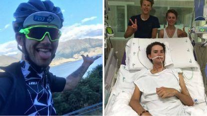 """Tien dagen in coma en ontsnapt aan de dood, maar 20-jarige renner staat er weer: """"Als ook maar een ding anders was gelopen, leefde ik vandaag niet meer"""""""