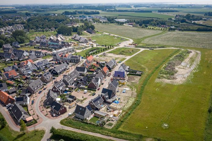 Wijk Aria in Goes. Veel nieuwe ondernemers begonnen vorig jaar in de bouwnijverheid.