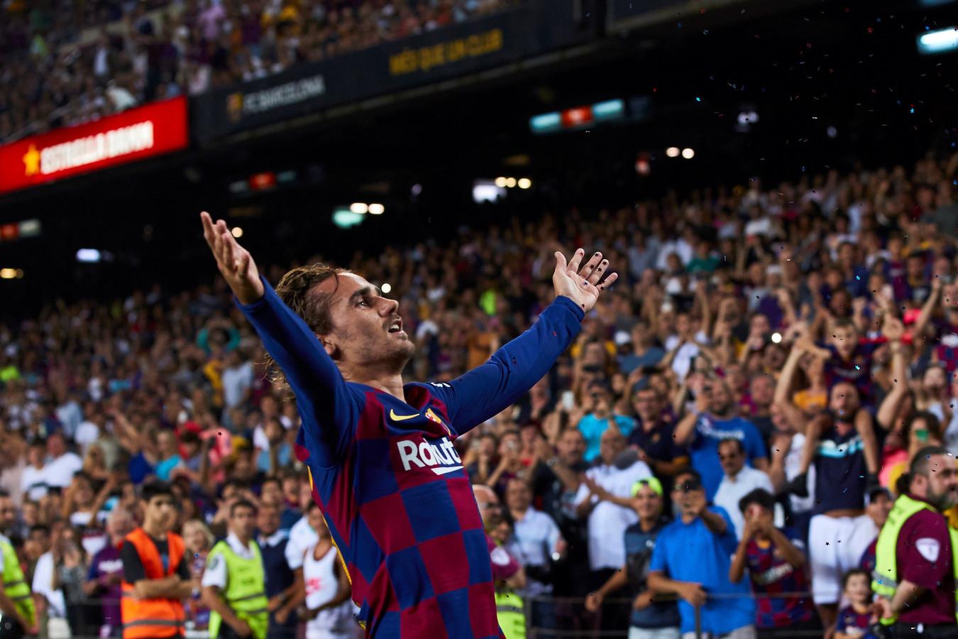 Antoine Griezmann viert zijn treffer.