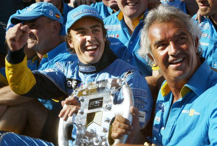 Fernando Alonso en Flavio Briatore.