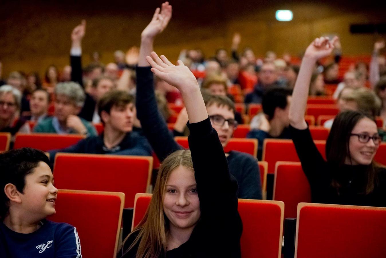 Foto ter illustratie: het scholierendebat wordt elk jaar gehouden.