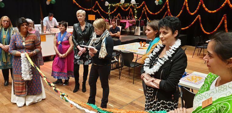 Jo Lemaire mocht de Indian Bazaar openen.