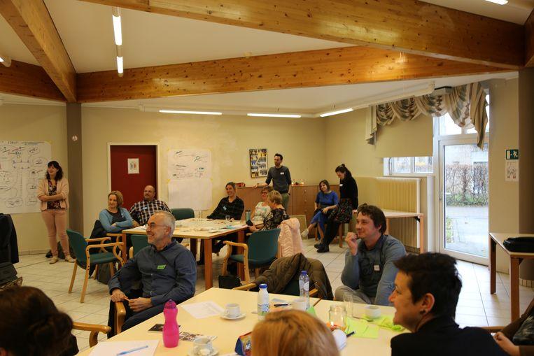 De Plan-Trekkers kwamen dinsdag samen om hun werking te bespreken.