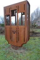 Liempde heeft al een iconisch kunstwerk dat aan het Duits Lijntje herinnert. Dat werk is van Huub Thorissen.