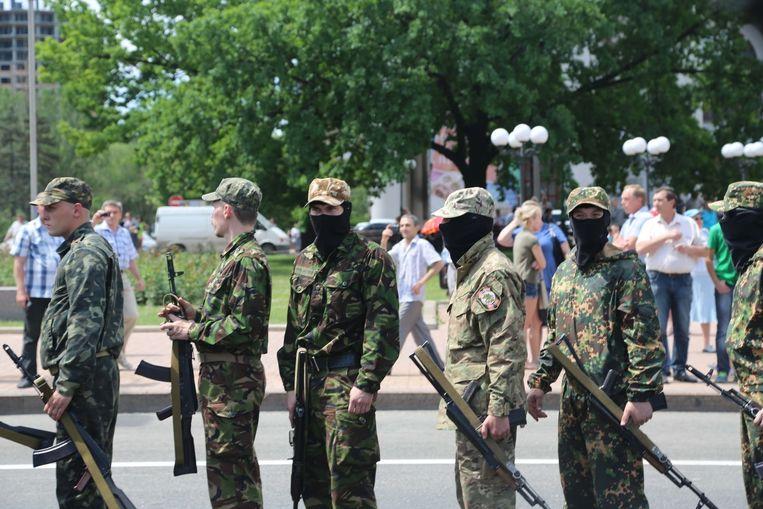 Pro-Russische separatisten in Donetsk