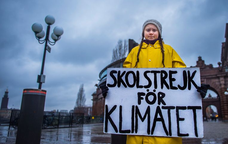 De 15-jarige Greta Thunberg. Beeld REUTERS