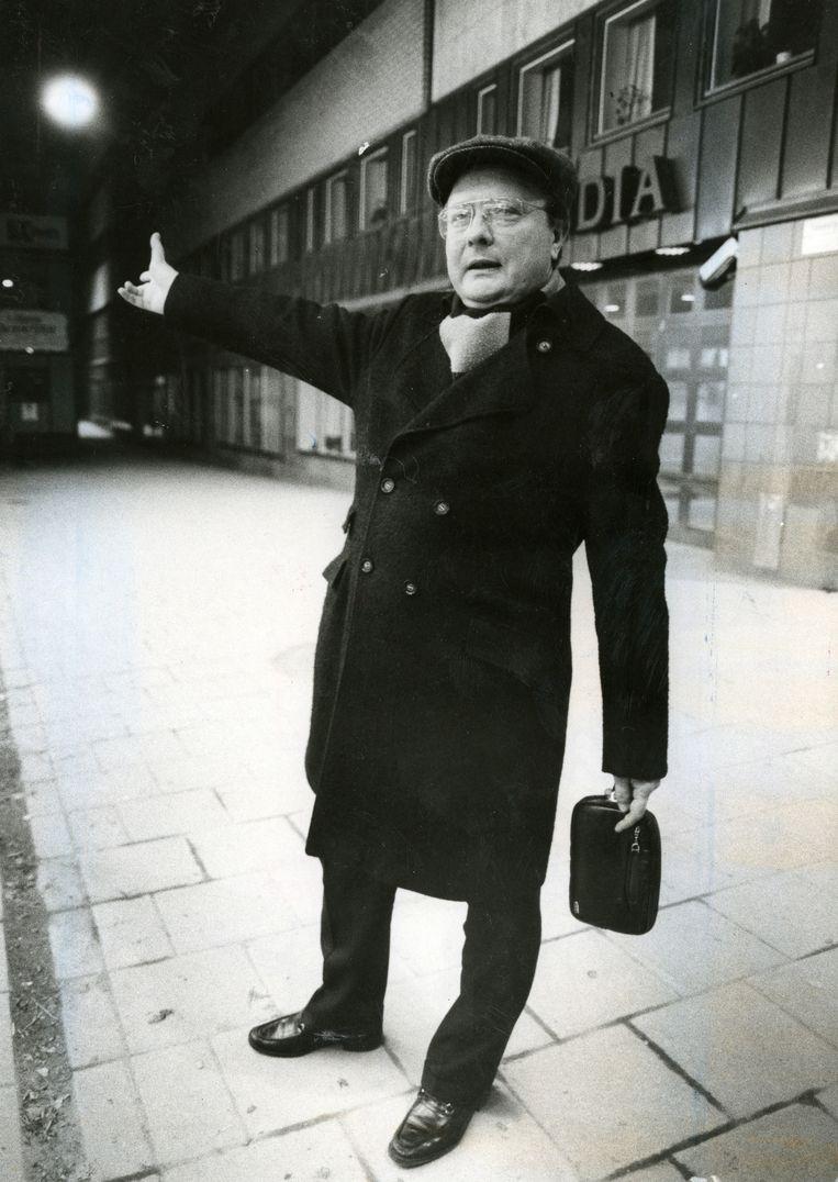 Stig Engström, ook bekend als 'Skandia Man', in april 1986. Volgens het Zweedse OM is de waarschijnlijke moordenaar van de Zweedse premier Olof Palme in 2000 overleden.  Beeld EPA