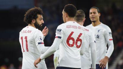Liverpool stoomt door naar 46 op 48 na probleemloze zege in Bournemouth
