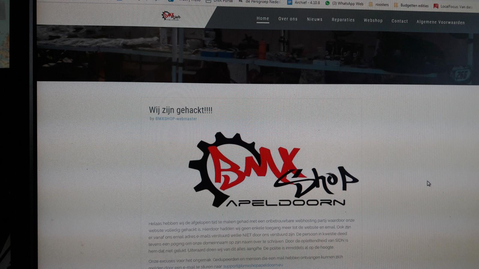 De site van de bmxshop Apeldoorn