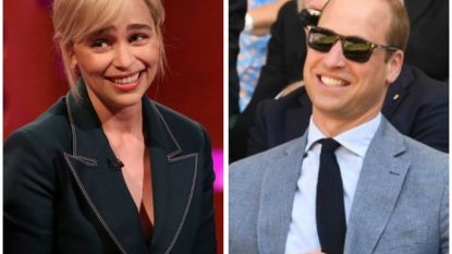 'Game of Thrones'-ster Emilia Clarke gaat de mist in tijdens ontmoeting met prins William