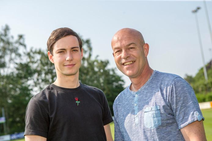 Luc Jimmink kan zaterdag met Harfsen promoveren, vader Erwin ging hem ruim twee decennia geleden voor.