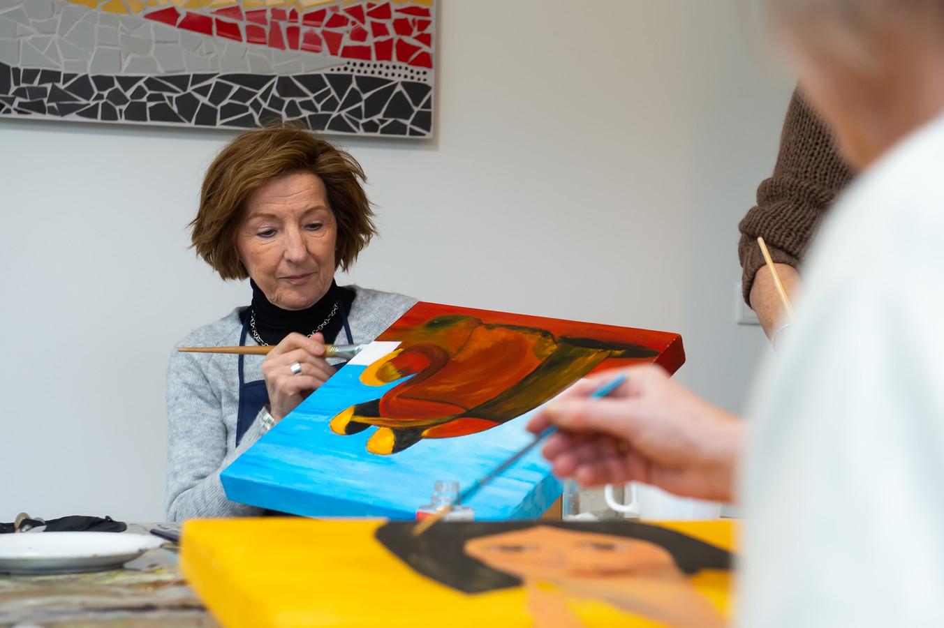 Breda Pix4Profs/René Schotanus.  Arny Otten - van der Avort geeft schilderles en is zelf ook patient.