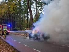 Auto brandt helemaal uit nadat bestuurder onder het rijden rook ziet