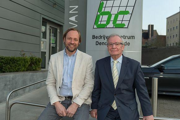 Leo Borms is voorzitter van het Bedrijvencentrum, Karel Uyttersprot, mede-oprichter, gedelegeerd bestuurder.