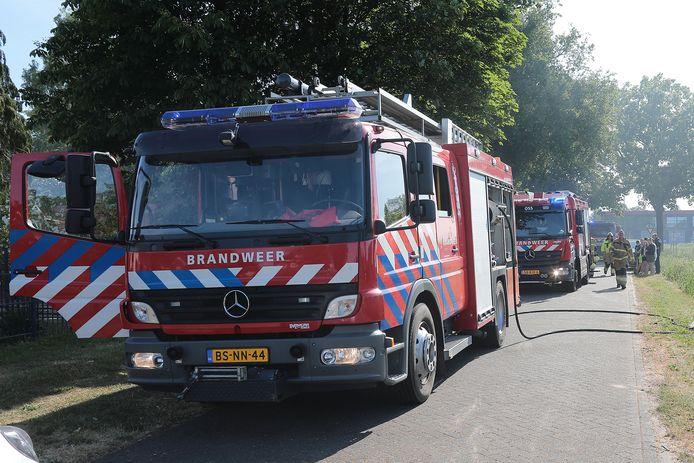 Felle schuurbrand in Berghem.