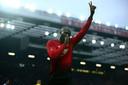 Lukaku vierde een goal met de duim in de mond.