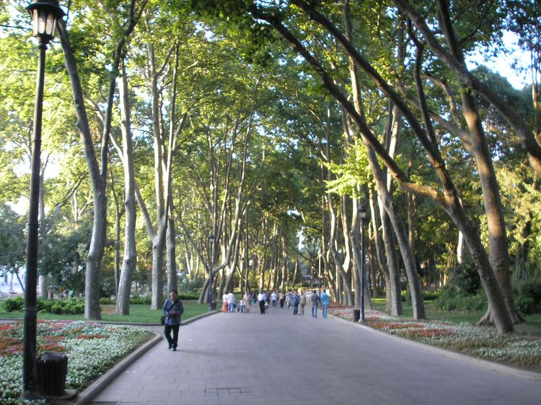 Park in Beyoğlu.