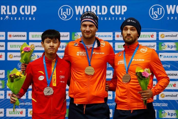 Zhongyan Ning, Thomas Krol en Kjeld Nuis.