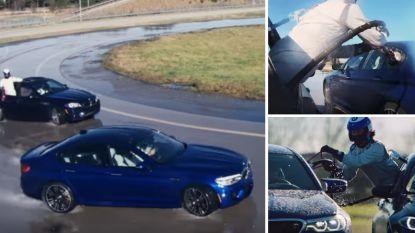 VIDEO. Ongelofelijke stunt levert BMW twee wereldrecords op: even driftend bijtanken in midden van langste drift