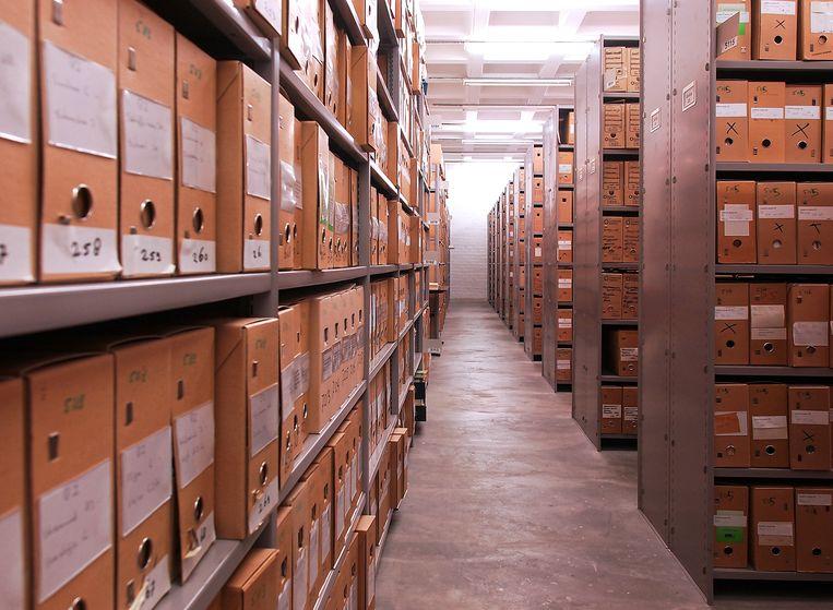 Het archief van de Vrije Universiteit. Beeld Too van Velzen