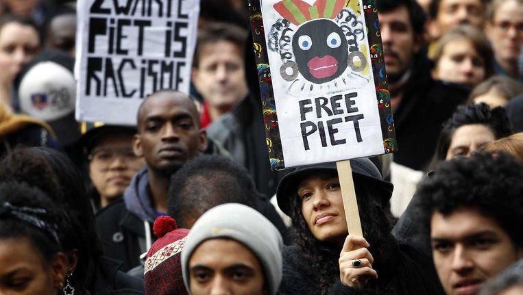 Demonstratie tegen Zwarte Piet. Beeld anp